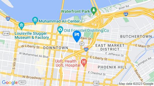 Residence Inn by Marriott Louisville Downtown Map