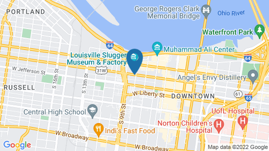 Holiday Inn Express & Suites Louisville Downtown, an IHG Hotel Map
