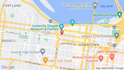 Holiday Inn Express & Suites Louisville Downtown Map