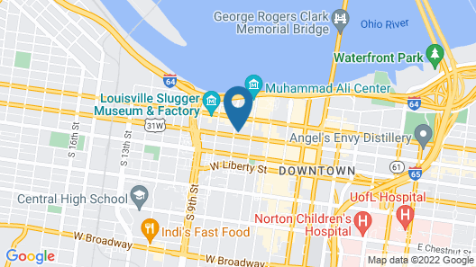 Homewood Suites by Hilton Louisville Downtown, KY Map