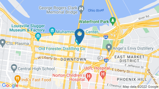 Downtown Louisville Apts with Wifi by Frontdesk Map