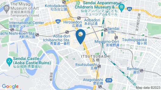The Westin Sendai Map