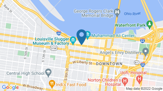 21c Museum Hotel Louisville - MGallery Map