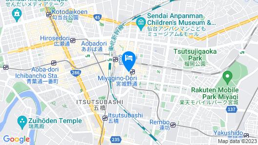 Hotel Vista Sendai Map