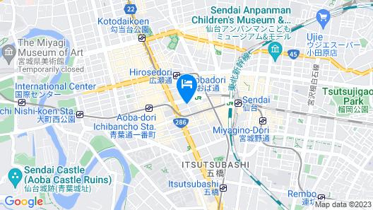Hotel Keihan Sendai Map