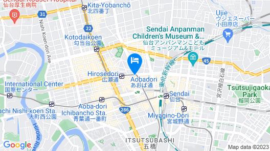Dormy Inn Sendai ANNEX Natural Hot Spring Map