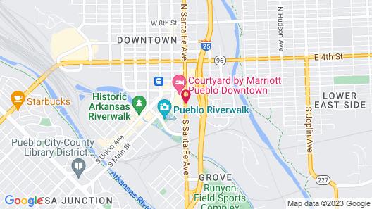 SpringHill Suites Pueblo Downtown Map