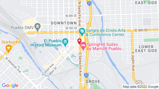 Courtyard by Marriott Pueblo Downtown Map