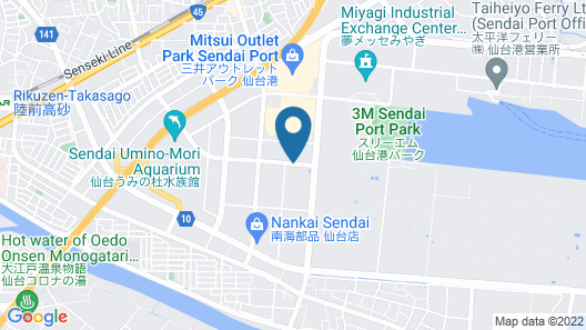 Dormy Inn Express Sendai Seaside Map