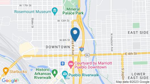 Santa Fe Inn Pueblo Map