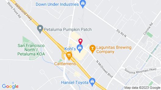 Motel 6 Petaluma, CA Map