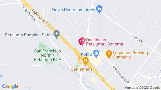 Americas Best Value Inn Petaluma Map