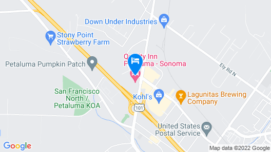 Quality Inn Petaluma - Sonoma Map