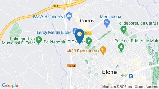 Hotel Campanile Elche Map