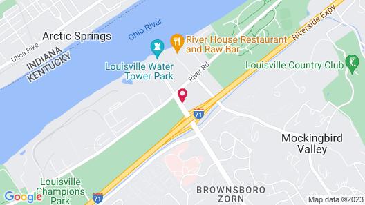Ramada by Wyndham Louisville North Map