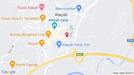 Alacati Zeytin Konak Hotel Map