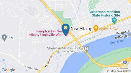 Hampton Inn New Albany Louisville West Map