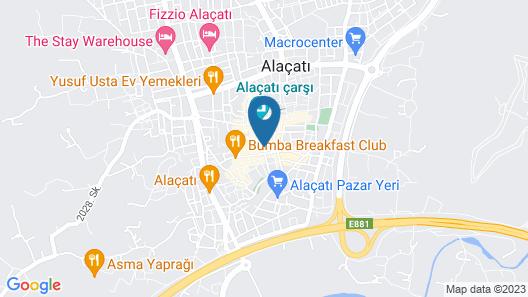 Alacati The Design Hotel Map