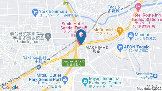 Smile Hotel Sendai Tagajyo Map