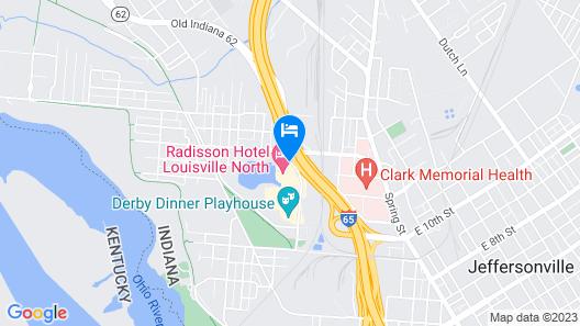 Radisson Hotel Louisville North Map