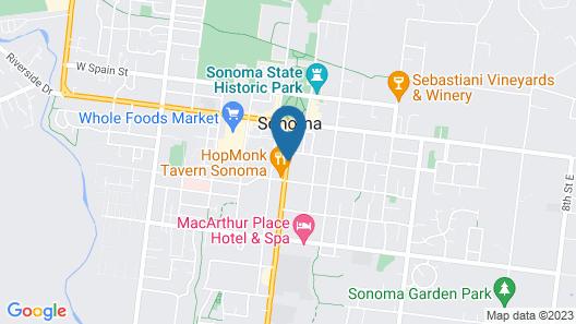 Inn At Sonoma - A Four Sisters Inn Map