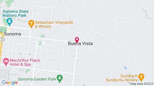 Sonoma's Best Cottages Map