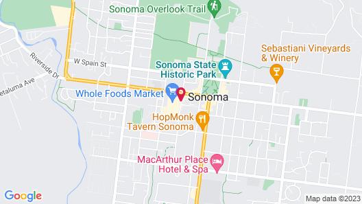 Best Western Sonoma Valley Inn & Krug Event Center Map