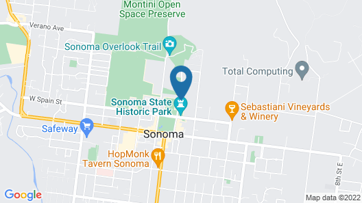 Cottage Inn & Spa Map