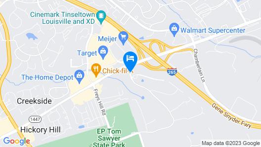 Aloft Louisville East Map