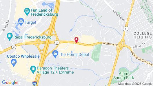 Best Western Fredericksburg Map