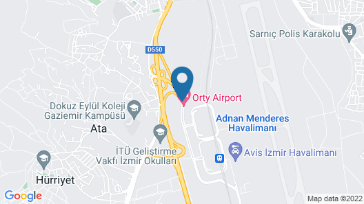 Orty Airport Hotel Map