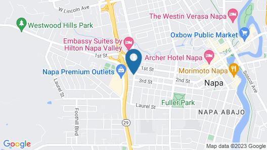 Bel Abri Napa Valley Inn Map