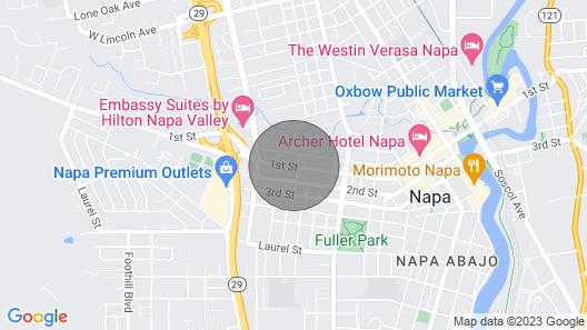 F.j. Massa House ~ Walk to Downtown Napa ~ Bocce Court Map