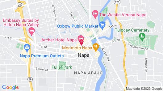 Archer Hotel Napa Map