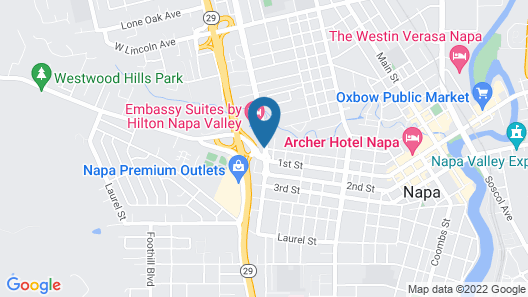 Embassy Suites by Hilton Napa Valley Map