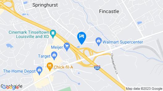 Hampton Inn Louisville - Northeast Map