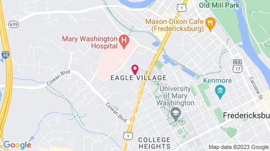 Hyatt Place Fredericksburg at Mary Washington Map