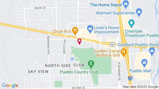 Comfort Inn & Suites Pueblo Map