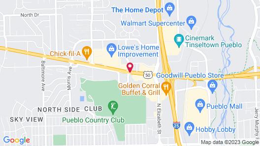 Rodeway Inn Pueblo CO Map
