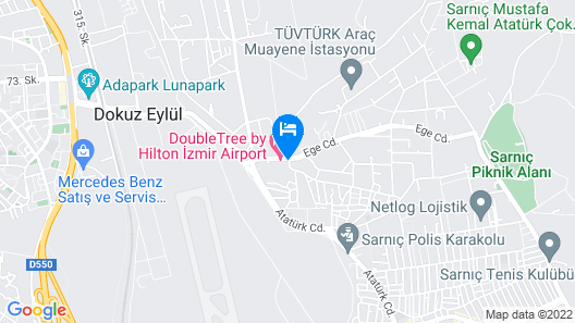DoubleTree by Hilton Hotel Izmir Airport Map