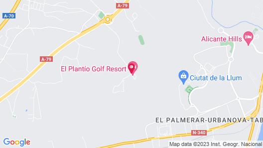 El Plantio Golf Resort Map