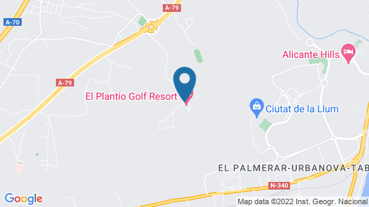 El Plantio Golf Resort Map
