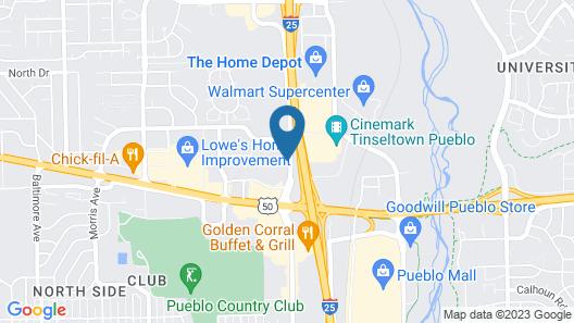 Motel 6 Pueblo, CO - I-25 Map