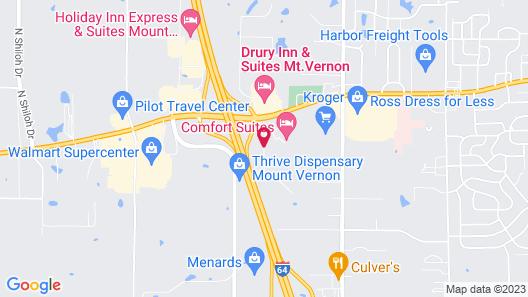 Comfort Suites Mount Vernon Map