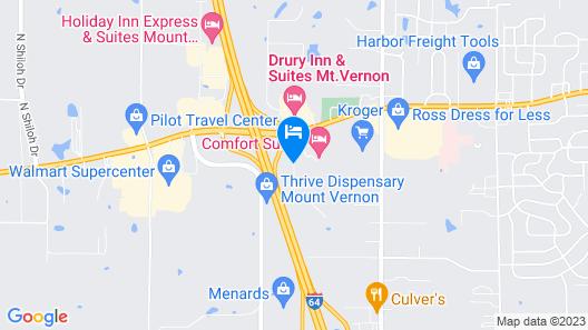 Super 8 by Wyndham Mt. Vernon IL Map