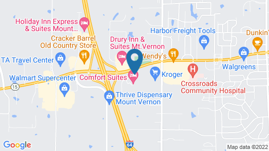 Motel 6 Mount Vernon, IL Map