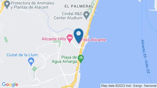 ibis budget Alicante Map