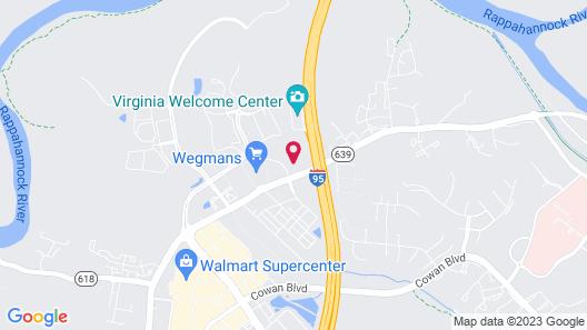 Hampton Inn & Suites Fredericksburg-at Celebrate Virginia Map