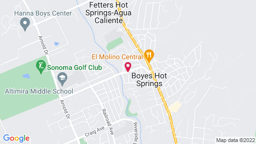 Sonoma Creek Inn Map