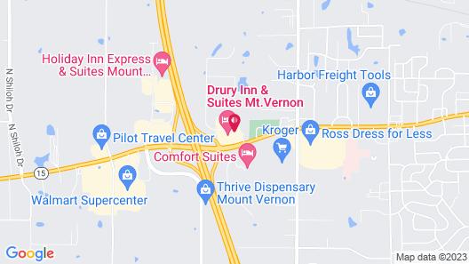 Drury Inn & Suites Mt. Vernon Map